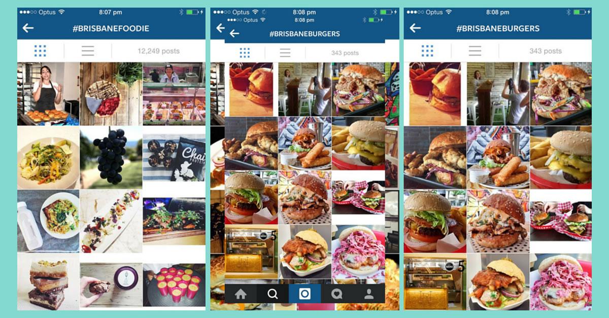 Brisbane Restaurant Hashtags